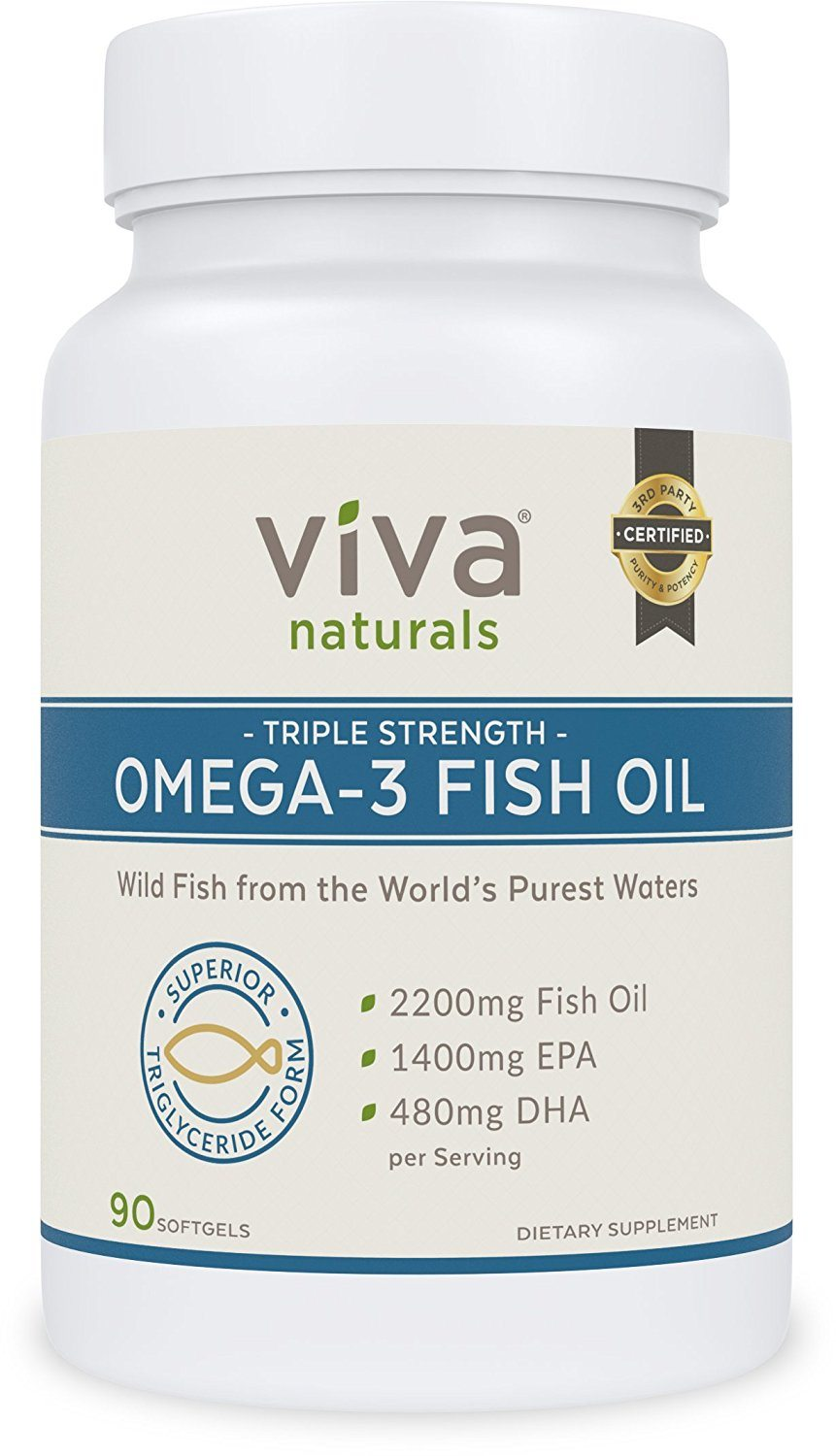 What is the best fish oil for bodybuilding athletes and for Viva naturals triple strength omega 3 fish oil