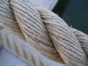 A section of a heavy rope