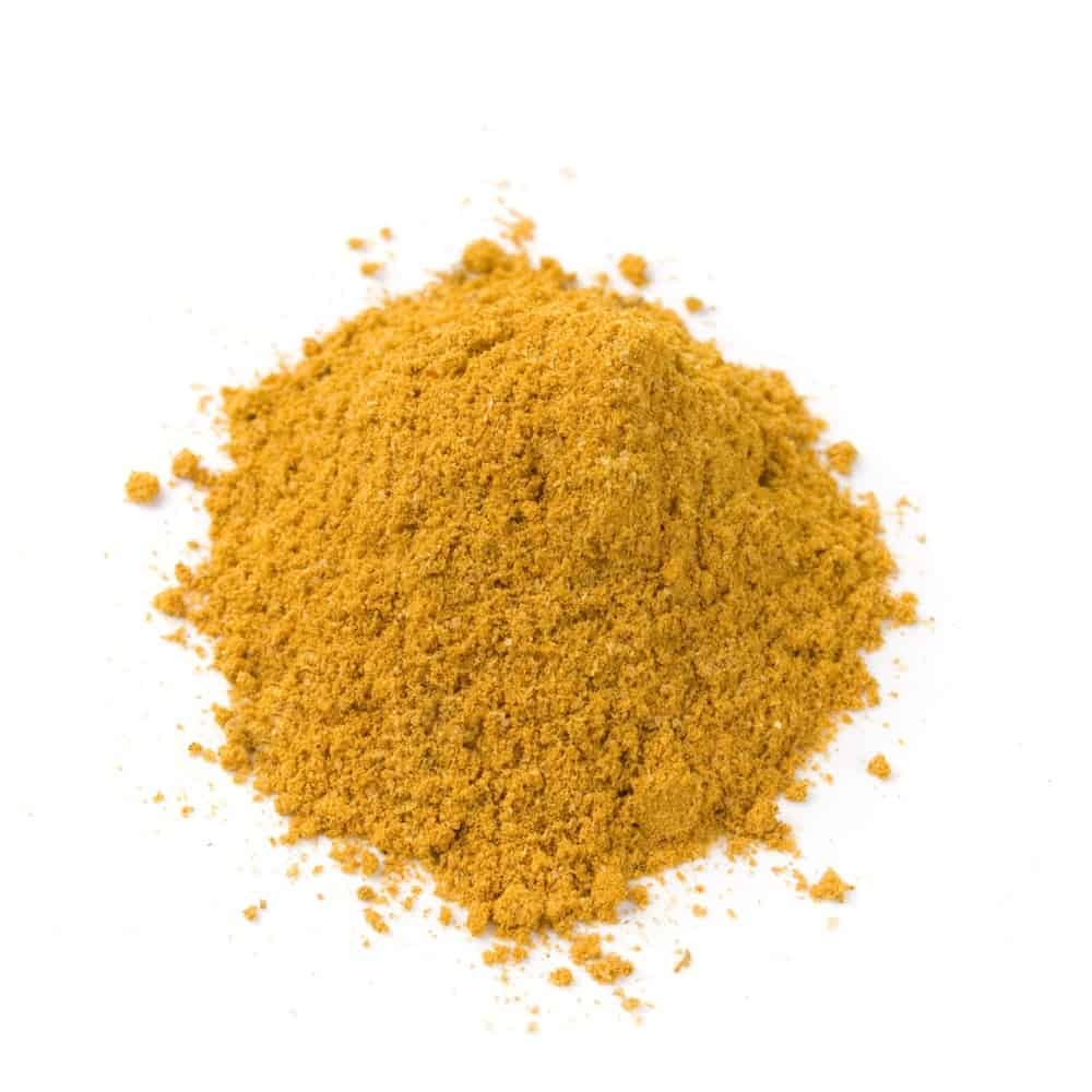 A patch of curry powder.