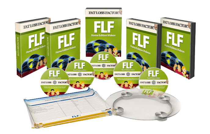 An image of Fat Loss Factor box sets, cds, and other tools.