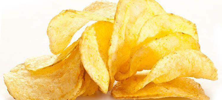 A handful of potato chips.