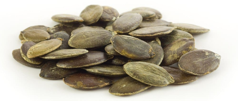 A handful of pumpkin seeds.