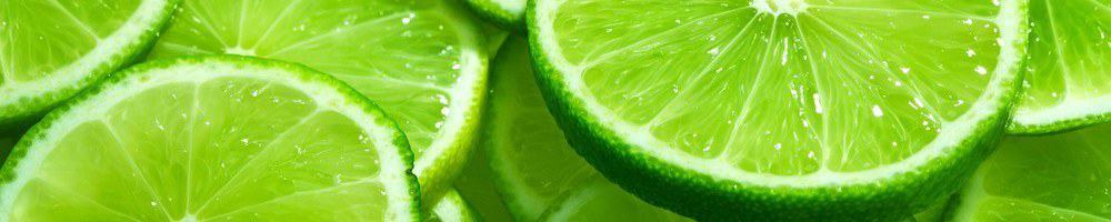 Slices of lime.