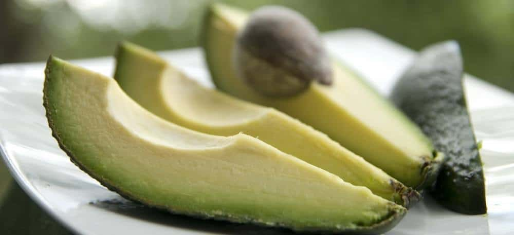 Avocado slices.