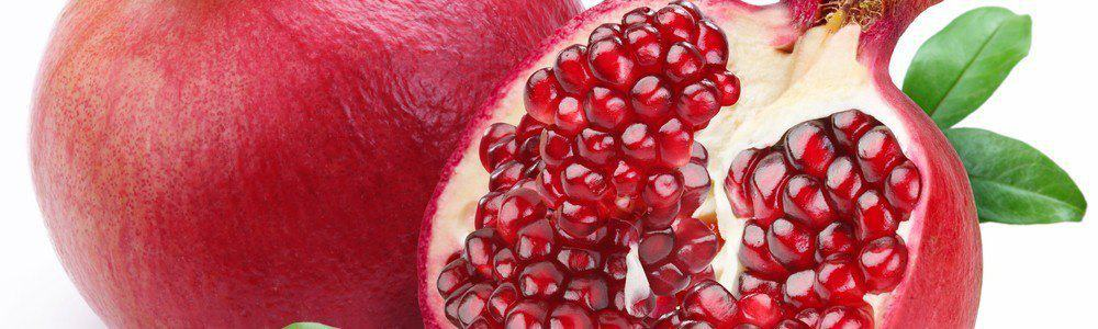 Sliced pomegranate.