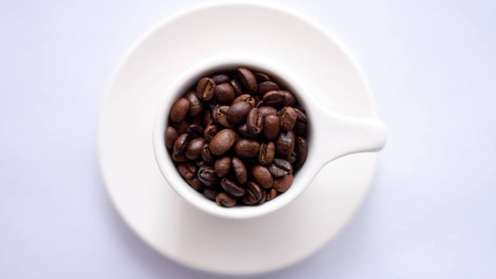A cup of coffee beans.