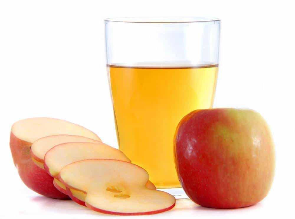 Apple juice with apples.