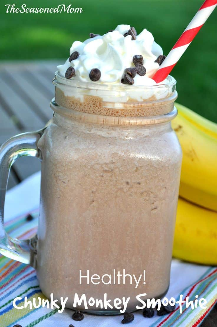 Chunky Monkey smoothie.