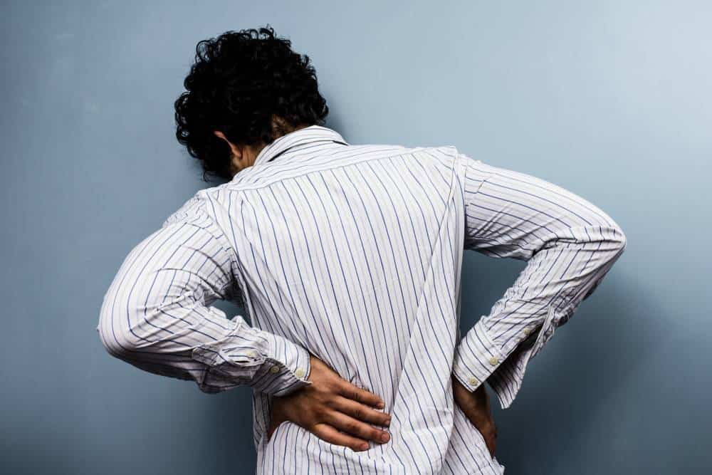 A person with back pain.