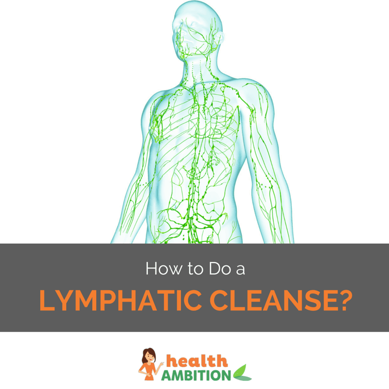 "Image of the lymphatic system with the title ""How To Do a Lymphatic Cleanse"""