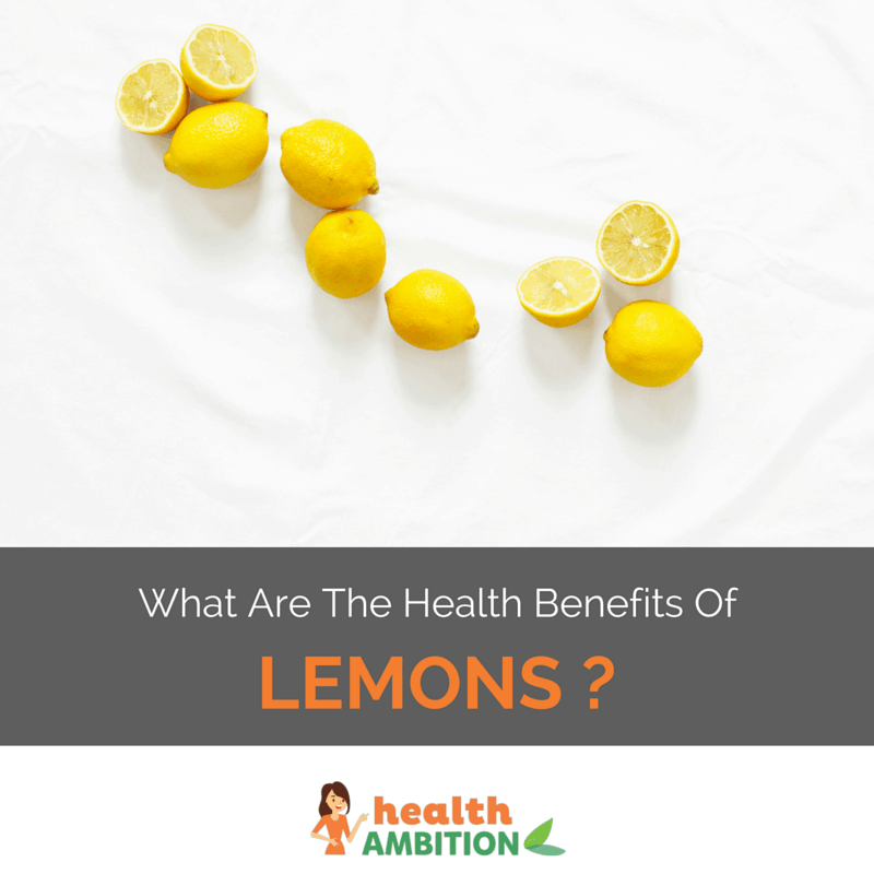 "Lemons with the title ""What Are The Health Benefits Of Eating Lemons?"""