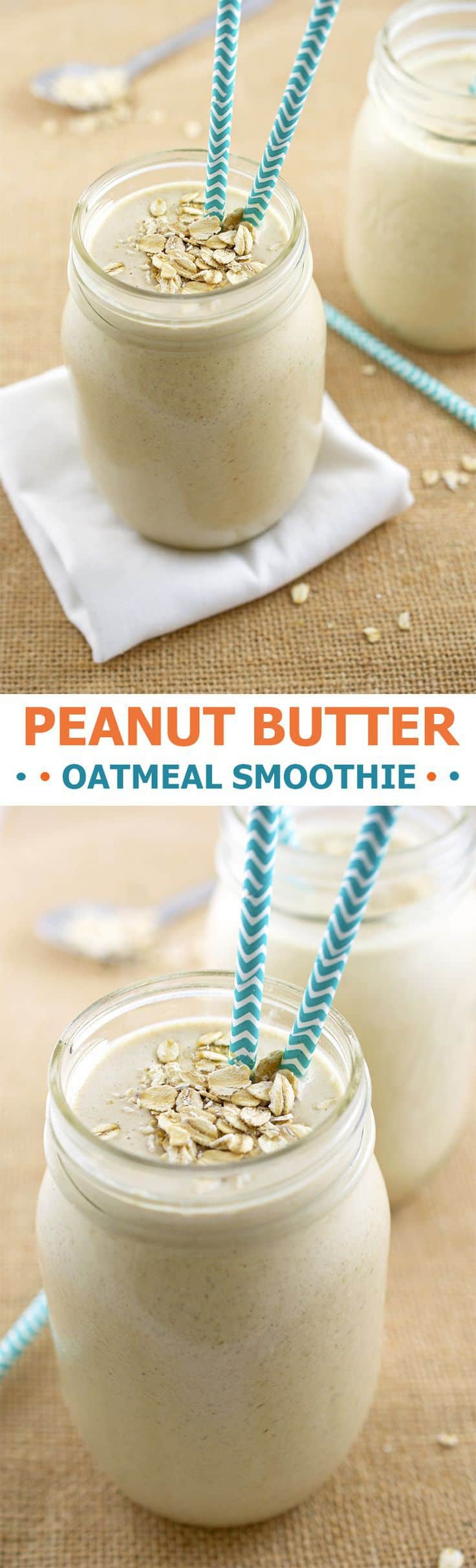 Peanut butter oatmeal smoothie.