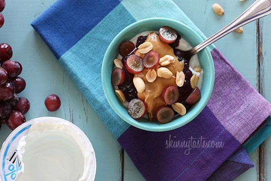 Peanut butter and jelly yogurt.