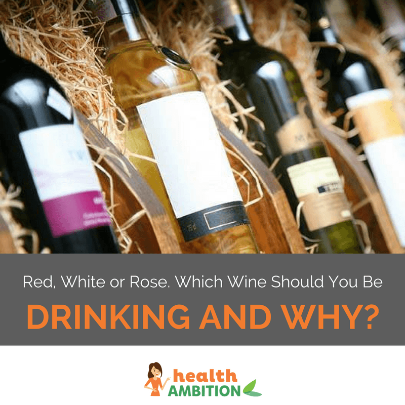 "Various wines stored in a cellar with the title ""Red, White or Rose. Which Wine Should You Be Drinking and Why?"""
