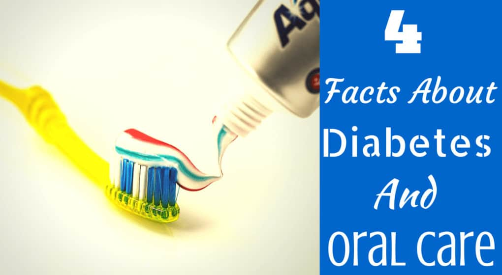 "Toothpaste being pushed in a toothbrush with the title ""4 facts about diabetes and oral care"""