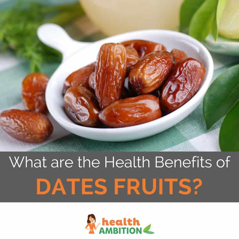 "A spoonful of dates with the title ""What are the Health Benefits of Dates Fruits?"""