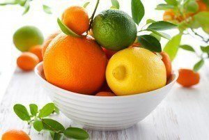 A bowl of citrus fruits.