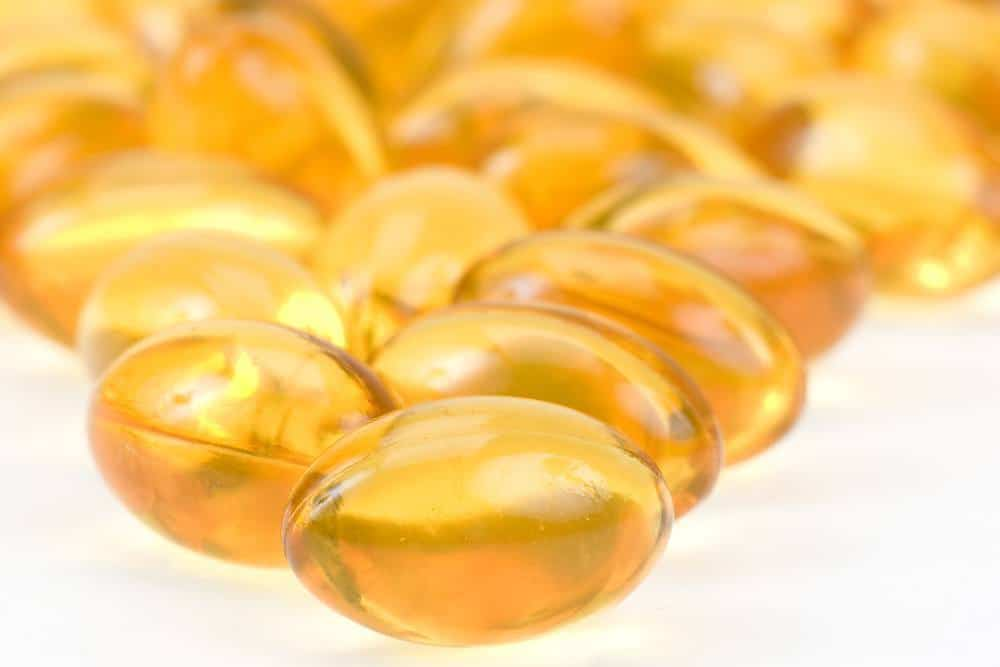 Capsules of fish oil.