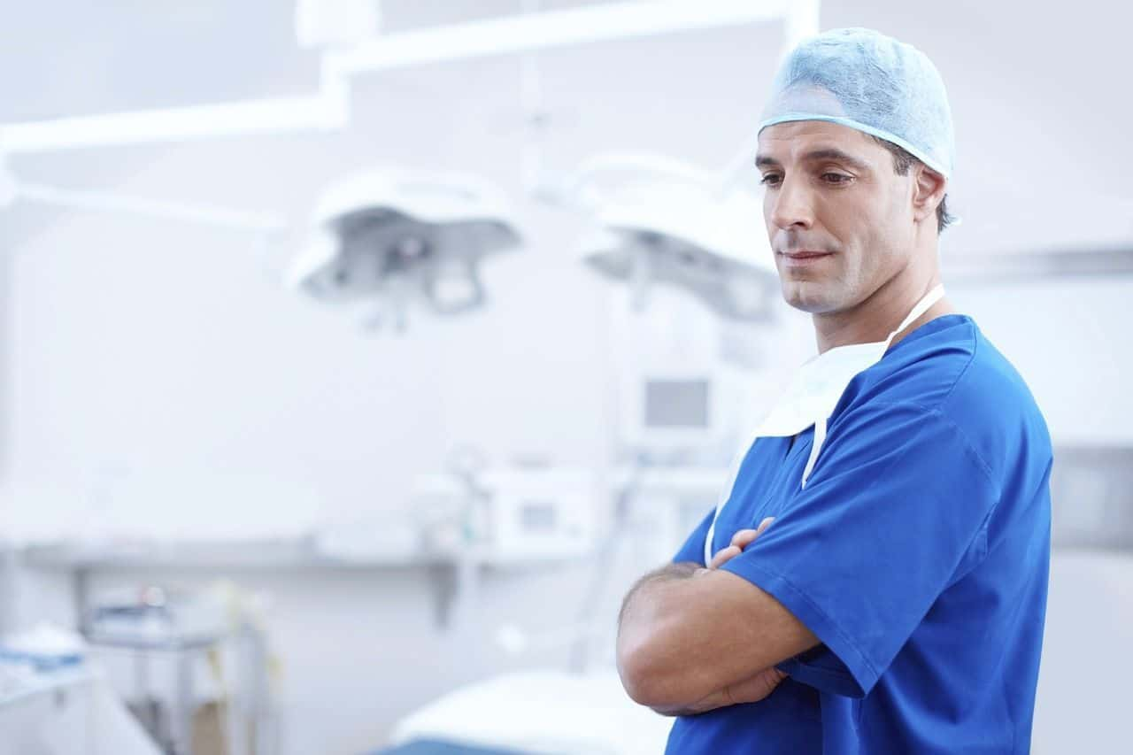 A doctor in an operating theater.