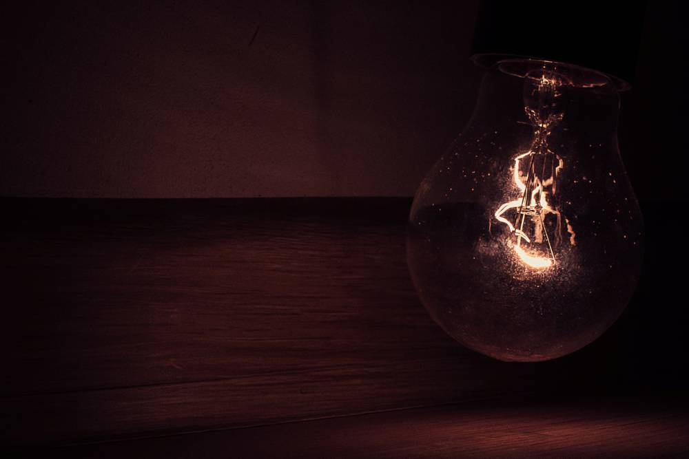 An old light bulb.
