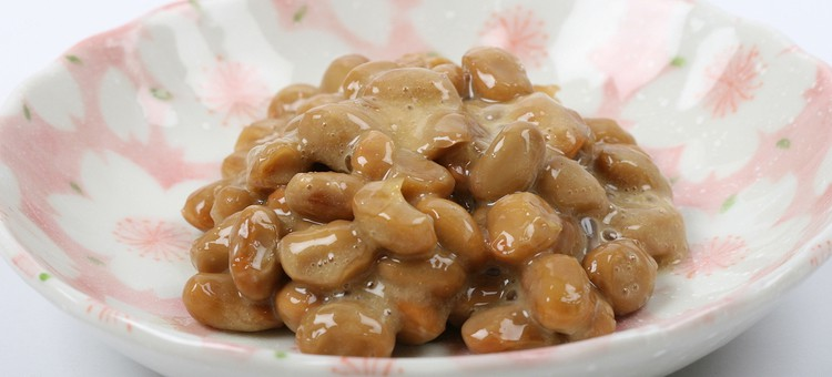 A bowl of natto.