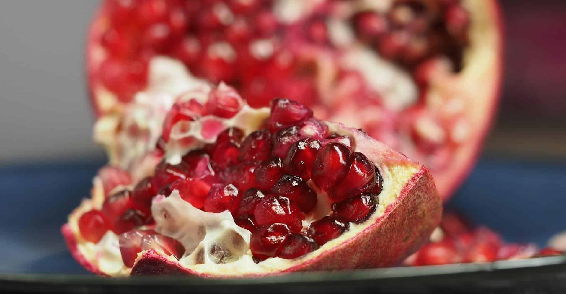 Opened pomegranate.