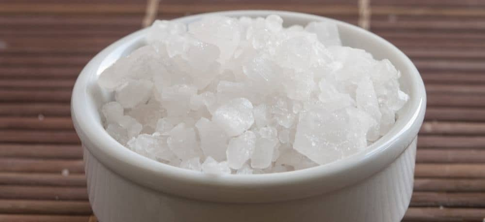 A bowl of salt crystals.