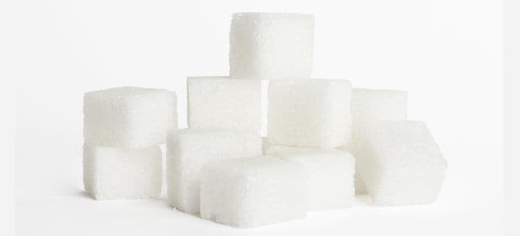 A pile of sugar cubes.