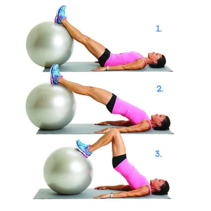 Swiss Ball hip Lift