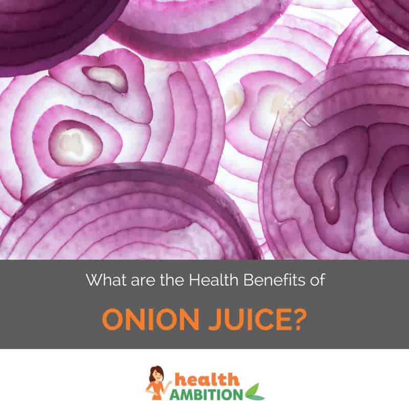 "Onions with the title ""What are the Health Benefits of Onion Juice?"""