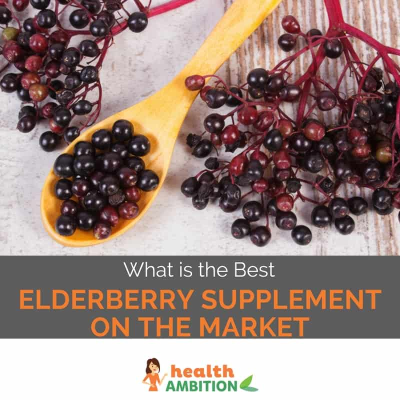 "elderberries with the title ""What is the Best Elderberry Supplement on the Market"""