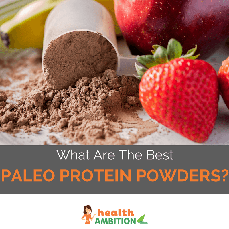 "Protein powder with the title ""What Are The Best Paleo Protein Powders?"""