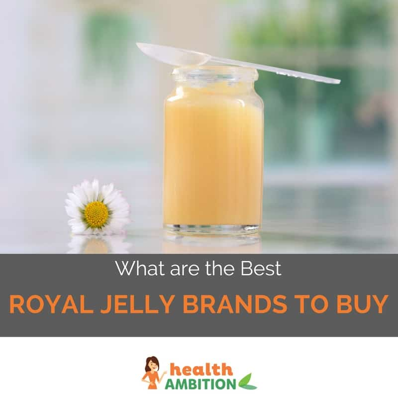 "Royal jelly with the title ""What are the Best Royal Jelly Brands to buy"""