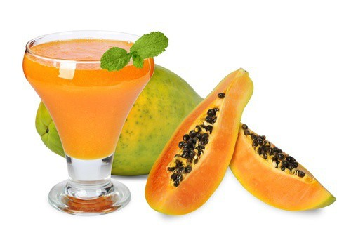 Papaya with papaya juice.
