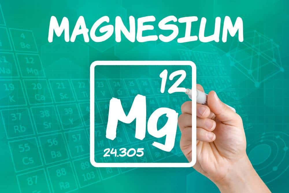 Magnesium symbol from the periodic table.