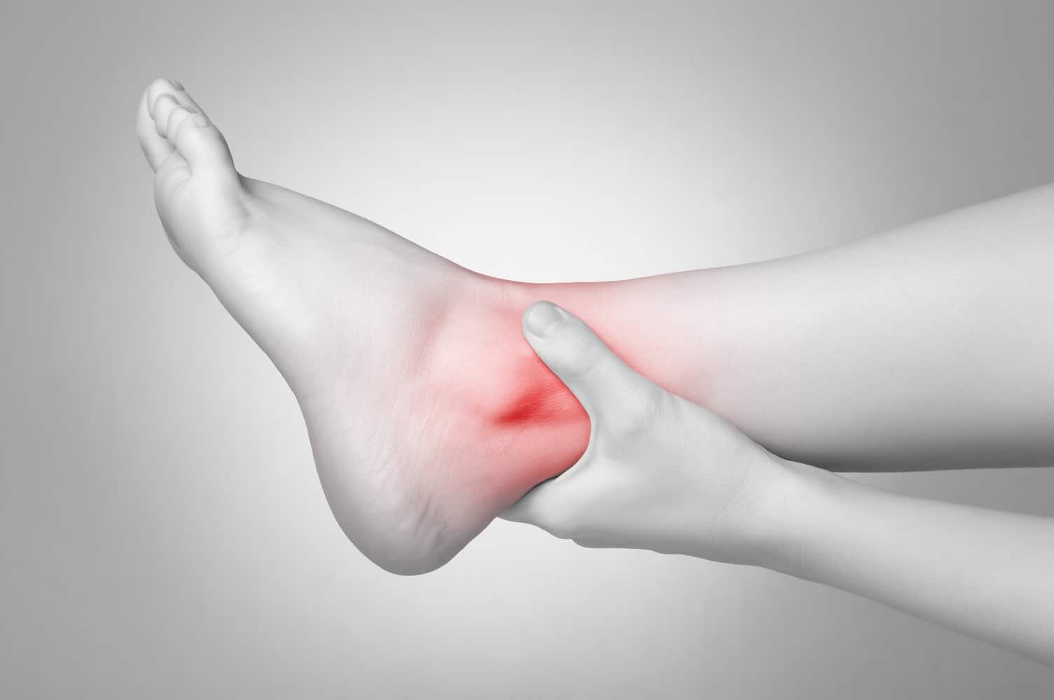 Graphic showing inflammation in the ankles.