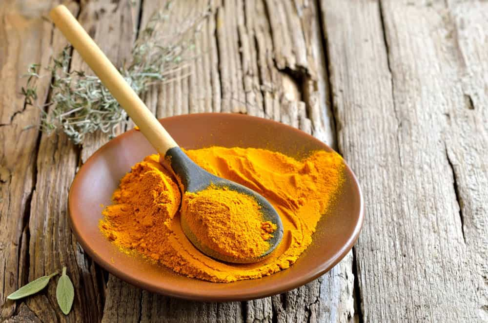 Turmeric powder. Traditional indian spice widely used in cooking and medicine