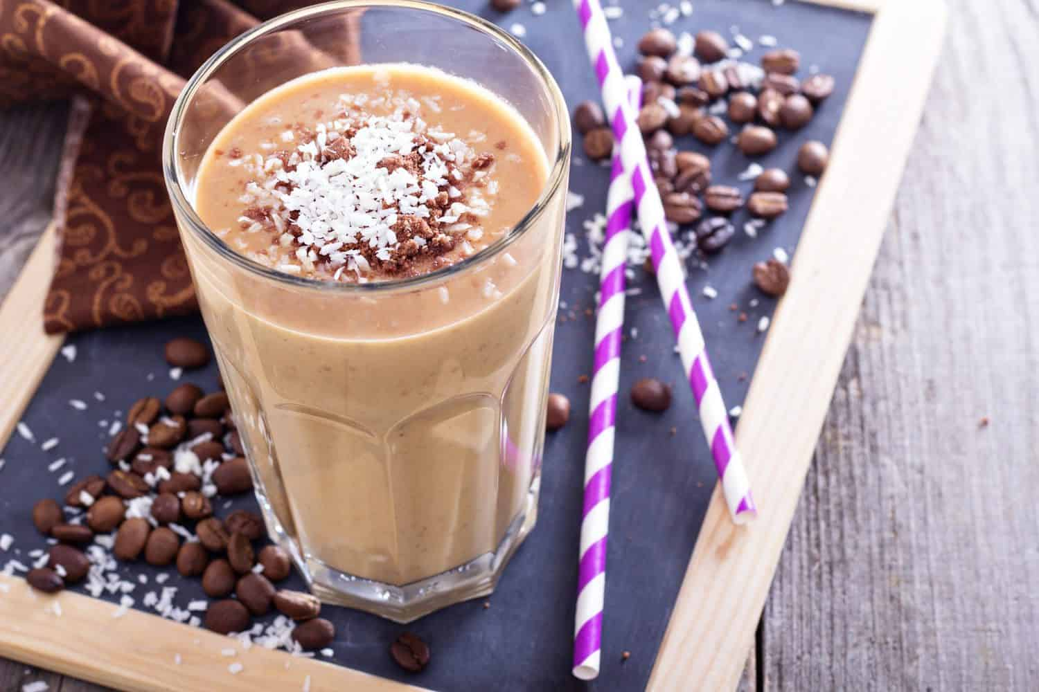 A coffee-based smoothie.