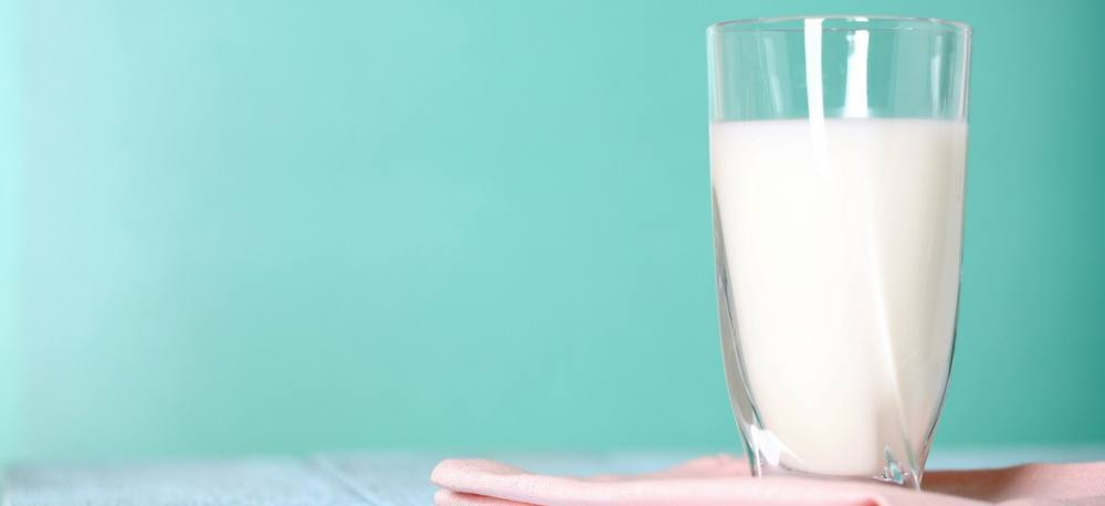 A glass of milk.