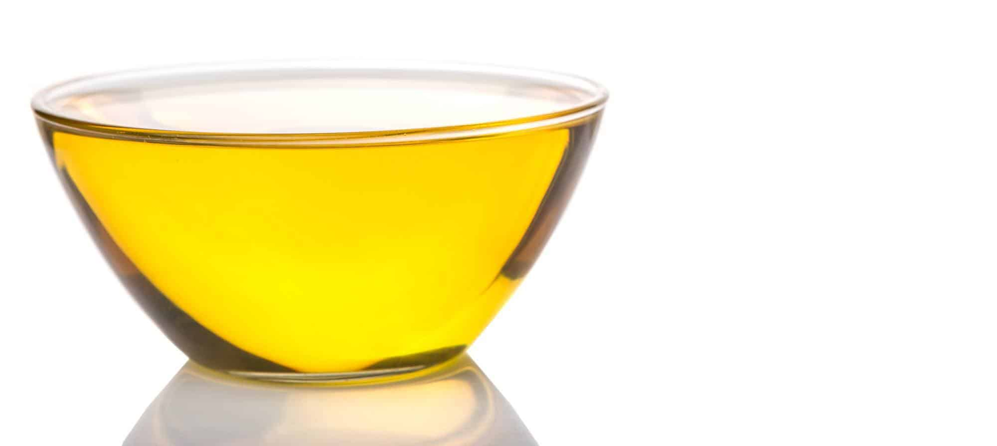 A cup of canola oil.