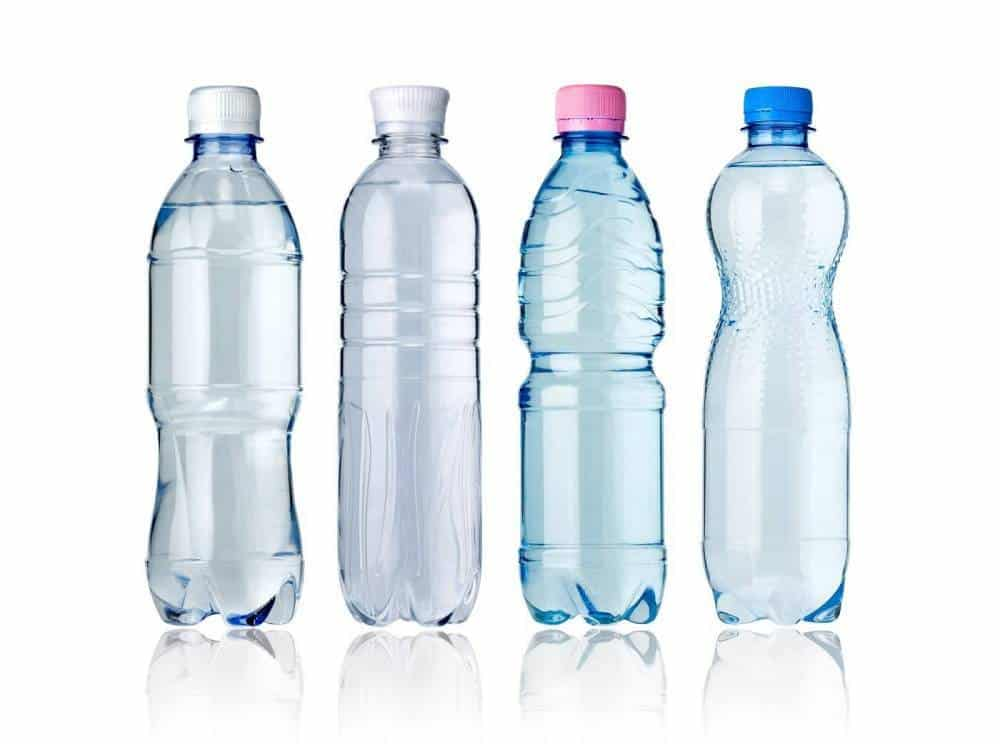 Bottles of water.