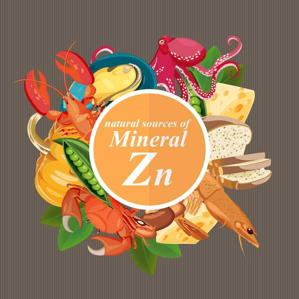 An image with natural sources of Zinc.