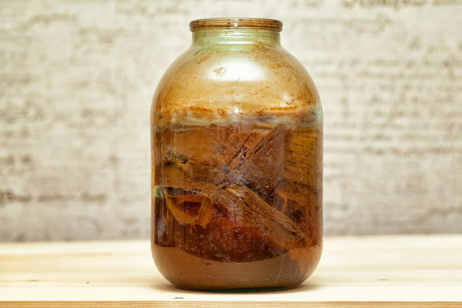 Kombucha with scoby.