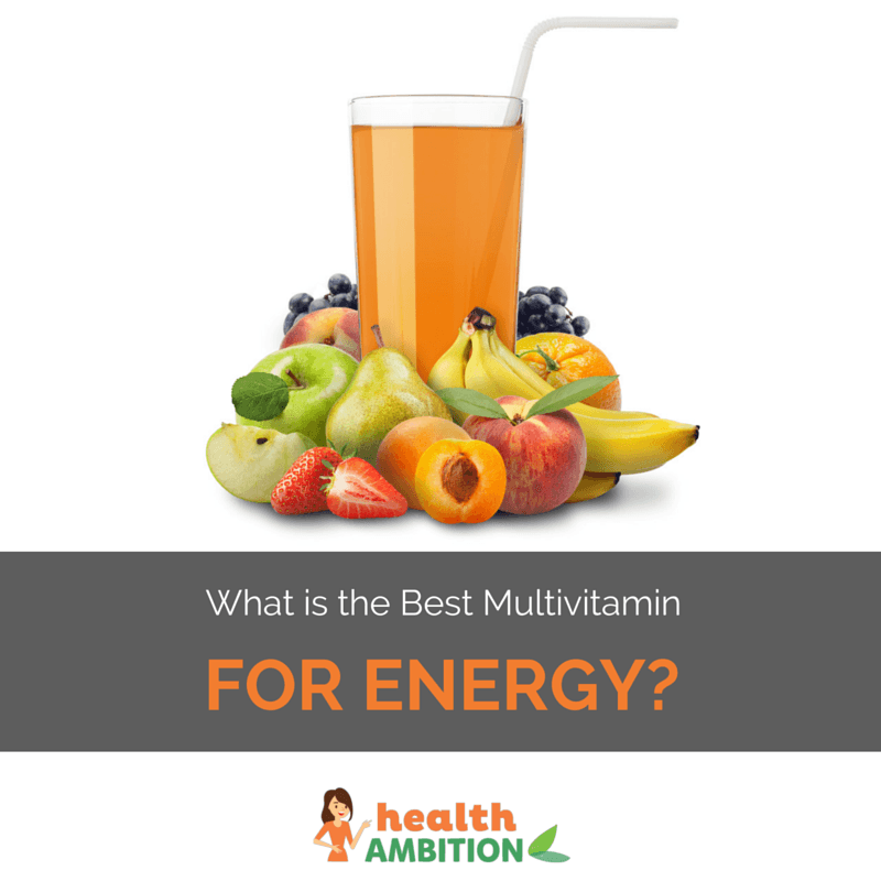 "Fruit juice with the title ""What is the Best Multivitamin for Energy?"""