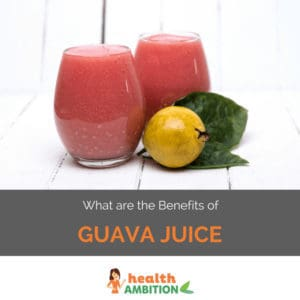"Glasse sof guava juice with the title ""What are the Benefits of Guava Juice?"""