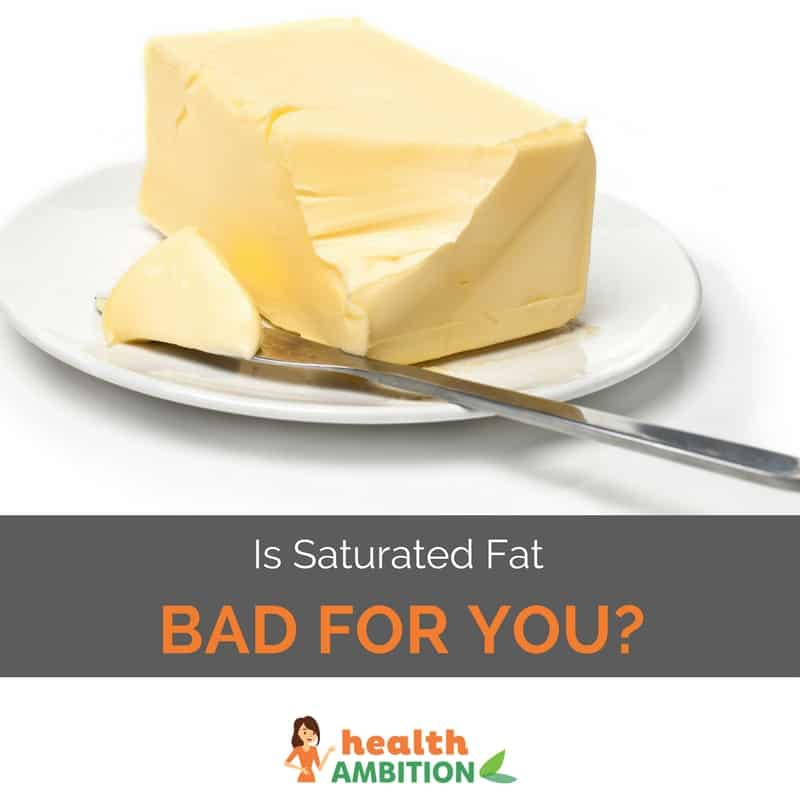 "Butter with the title ""Is Saturated Fat Bad For You?"""