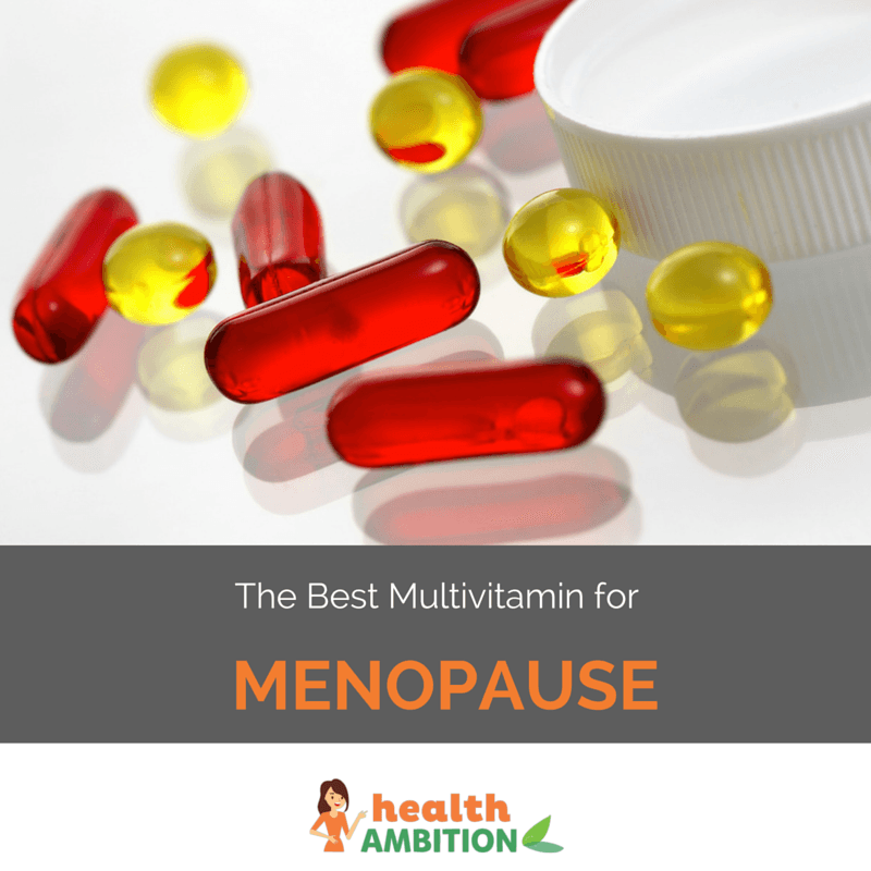 "Multivitamin capsules with the title ""The Best Multivitamin for Menopause"""