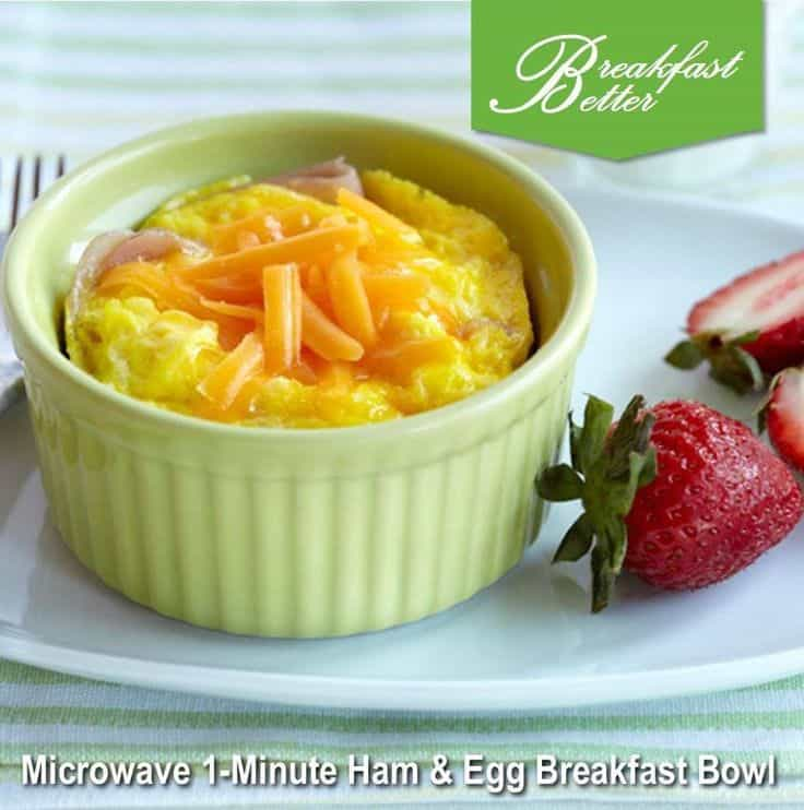 Microwave 1-Minute Ham & Egg Breakfast Bowl