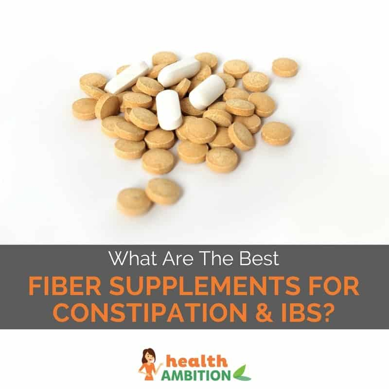 """Tablets with the title """"What Are The Best Fiber Supplements For Constipation & IBS?"""""""
