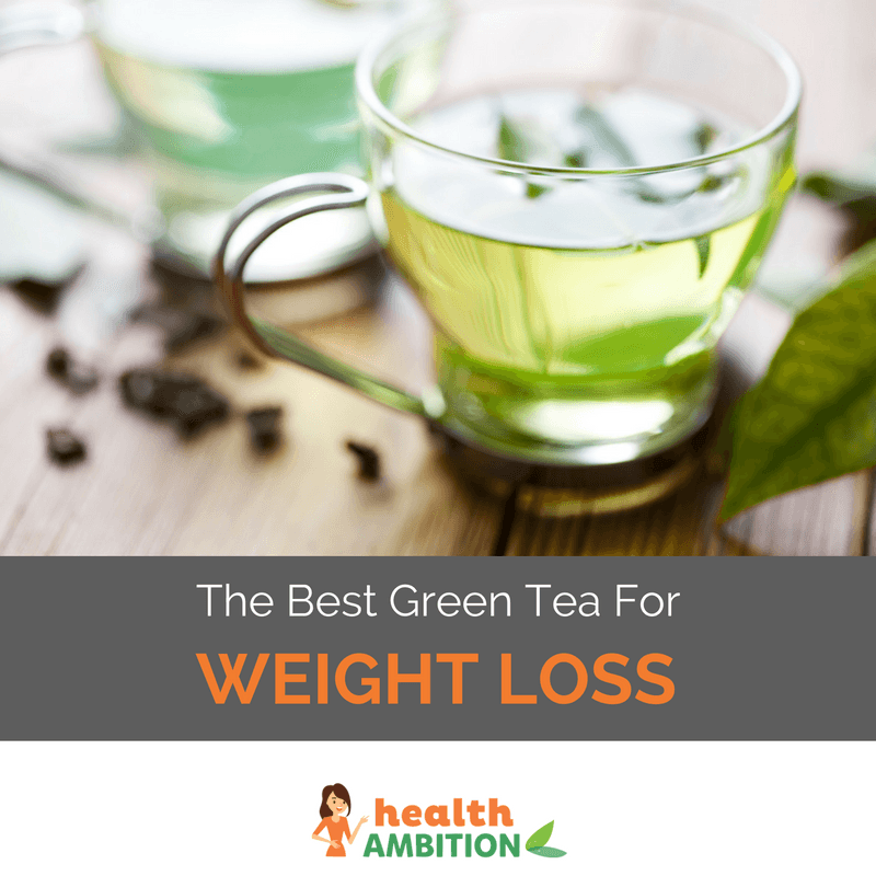A Gl Of Green Tea With The Le Best For Weight Loss